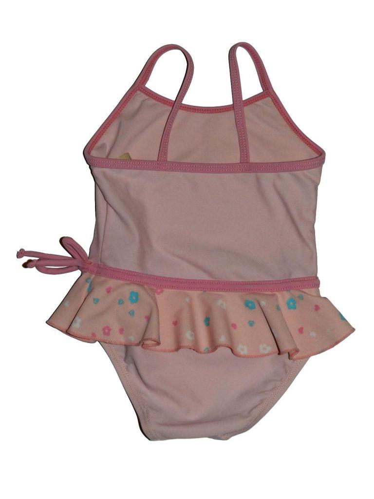 Hibátlan Tiny Ted Rózsaszín, fodros fürdőruha (80-86)