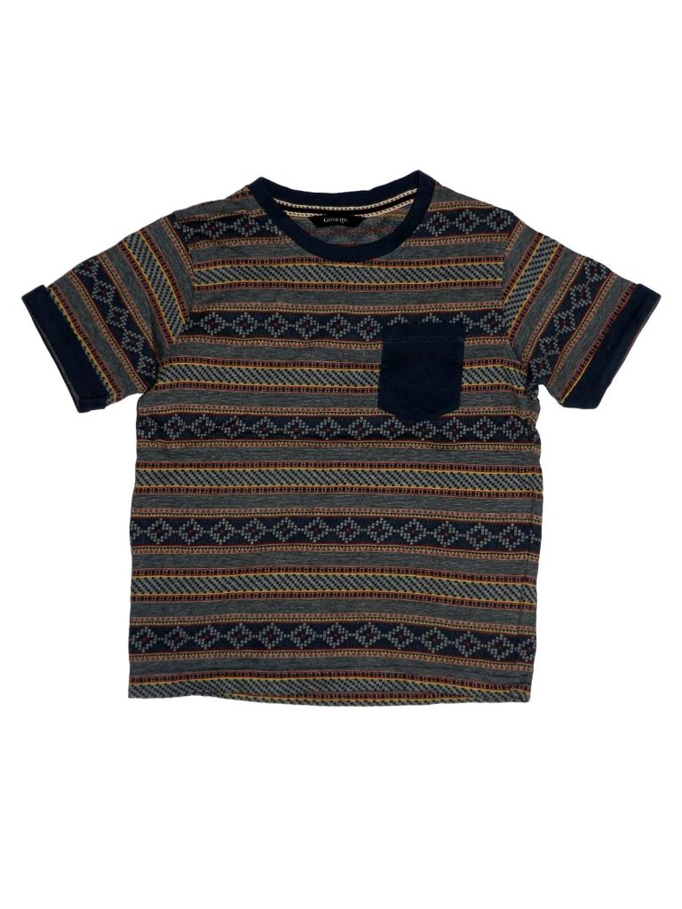 Újszerű George Mintás, zsebes póló (104-110)