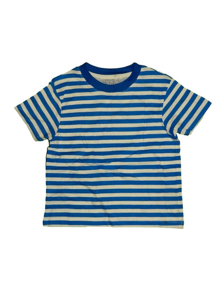 Újszerű Egyéb márka Kék-fehér csíkos póló (86-92)