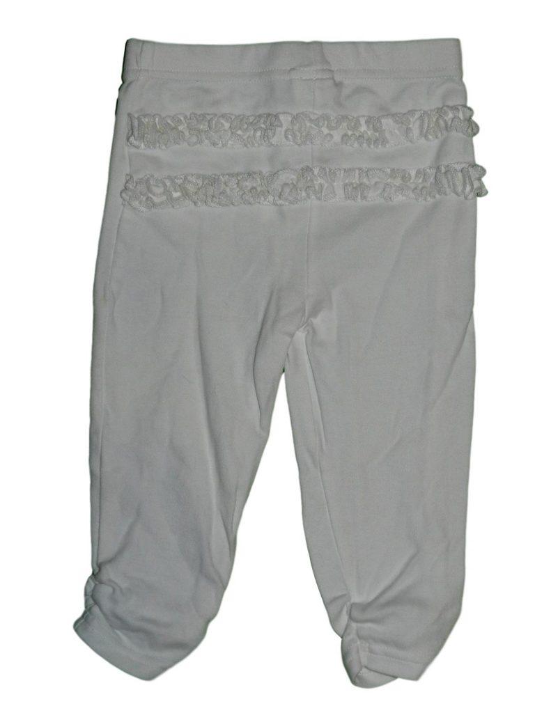 Hibátlan Debenhams Fehér, fodros leggings (74-80)