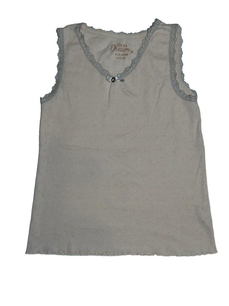 Hibátlan River Island Rózsaszín, csipkés trikó (146-152)