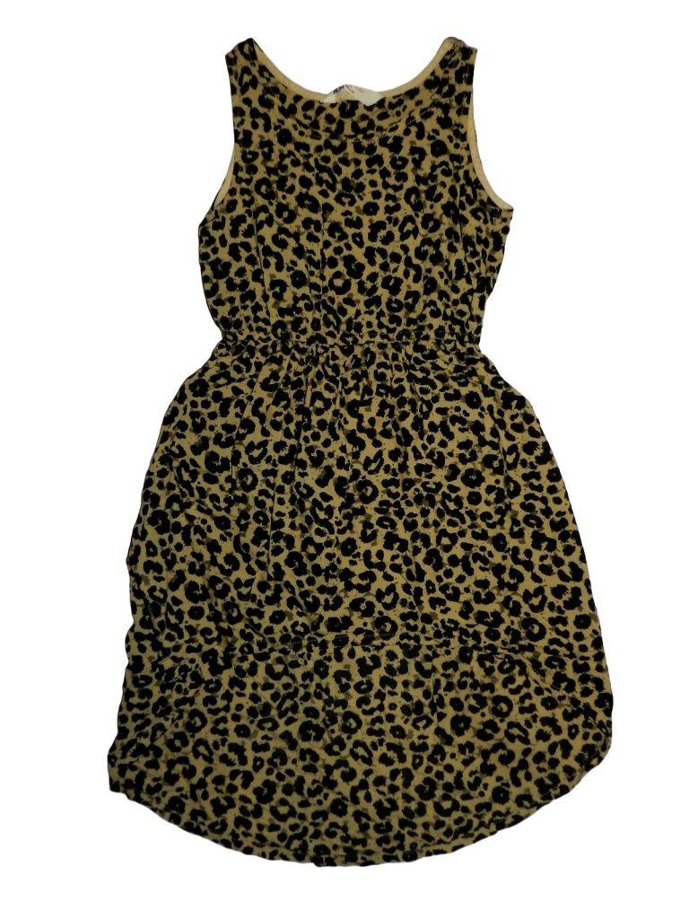 Hibátlan H&M Leopárdmintás ruha (134-140)