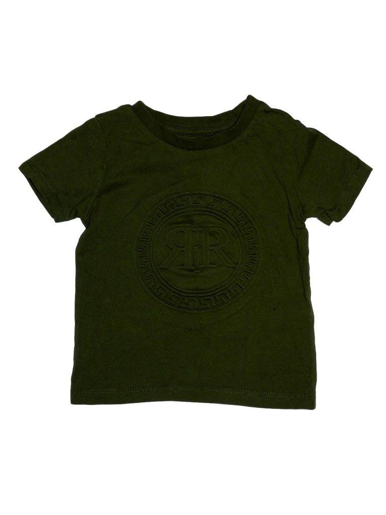 Hibátlan River Island Dombormintás zöld póló (74-80)