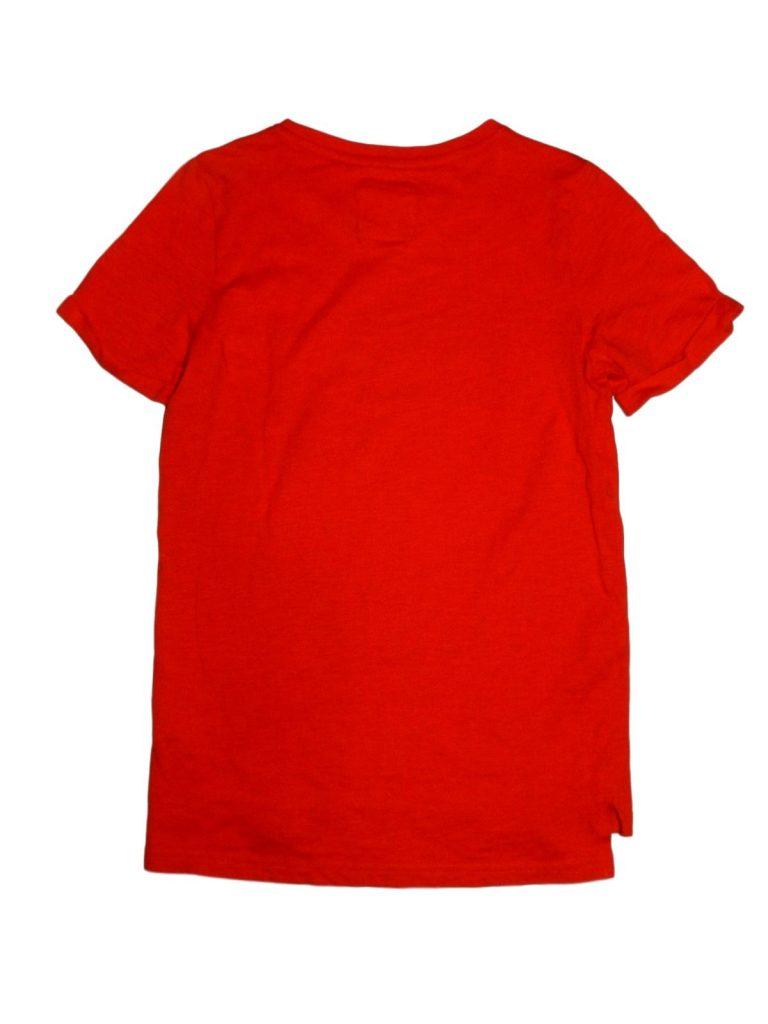 Újszerű TU Karakteres piros póló (152)