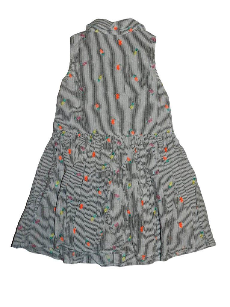 Hibátlan Egyéb márka Hímzett csíkos ruha (116)