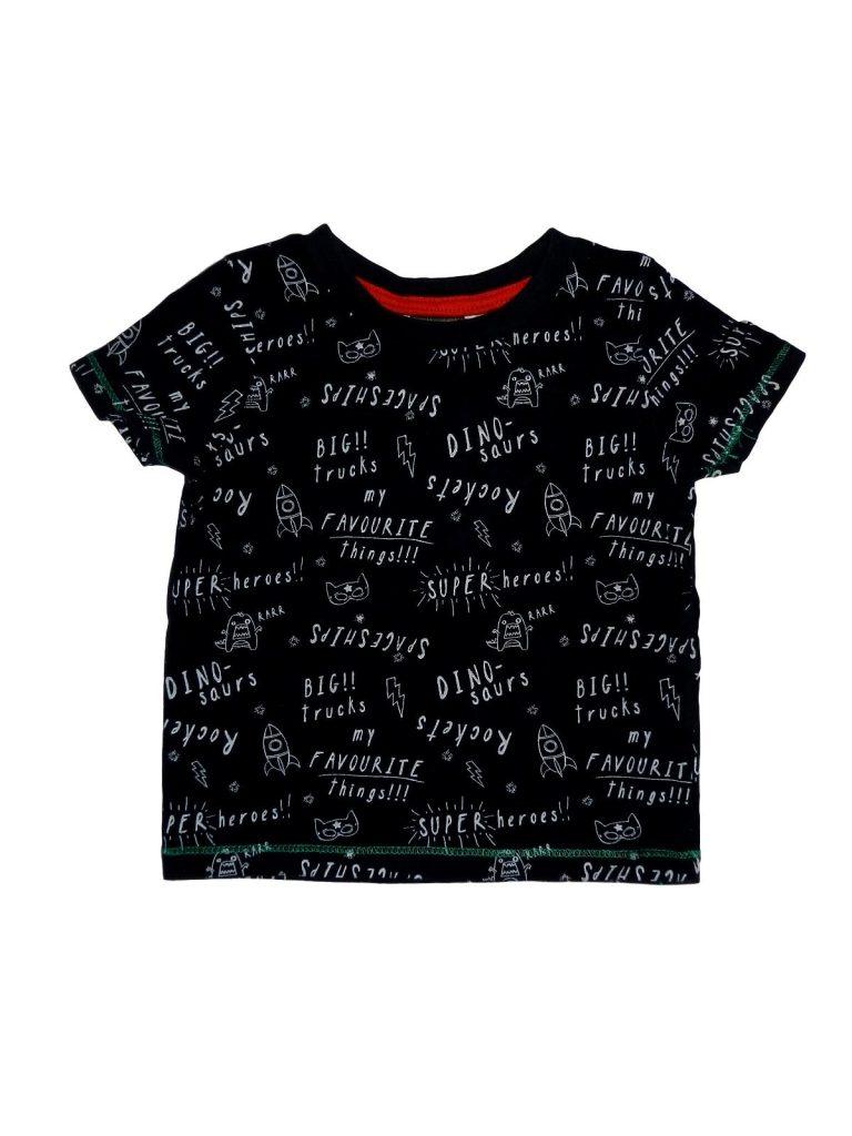 Újszerű Egyéb márka Feliratos, fekete póló (80-86)