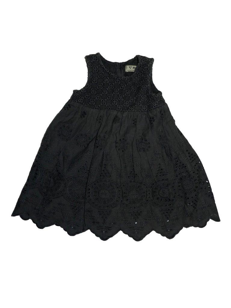 Újszerű Next Szürke, csipkés ruha (74-80)