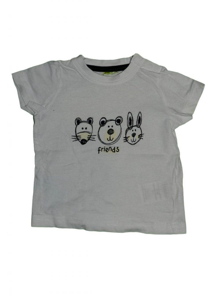 Hibátlan Egyéb márka Állatmintás fehér póló (62-68)