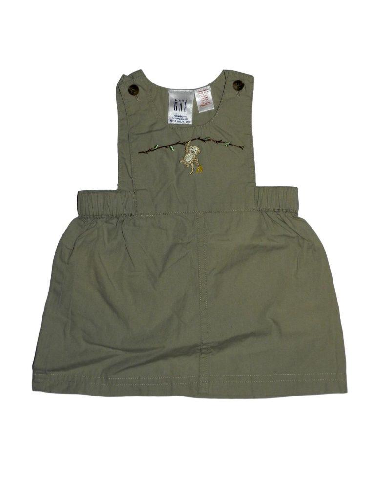 Hibátlan Gap Hímzett, majmos ruha (62-68)