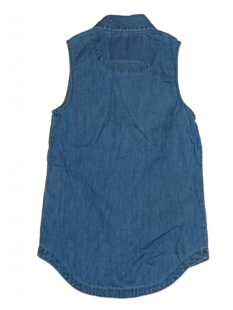 Hibátlan Egyéb márka Csipkezsebes, kék blúz (128-134)