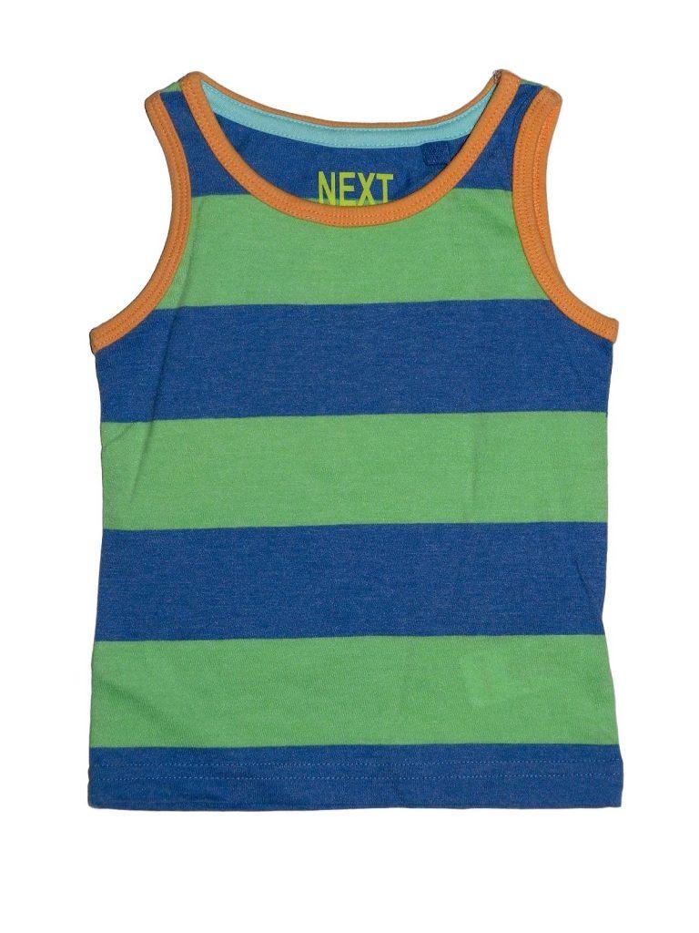 Hibátlan Next Kék-zöld csíkos trikó (68-74)