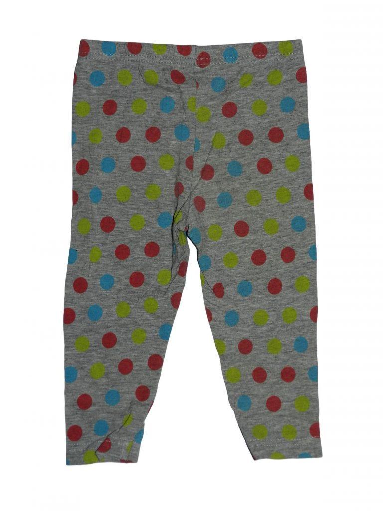 Hibátlan Egyéb márka Szürke, pöttyös leggings (86)