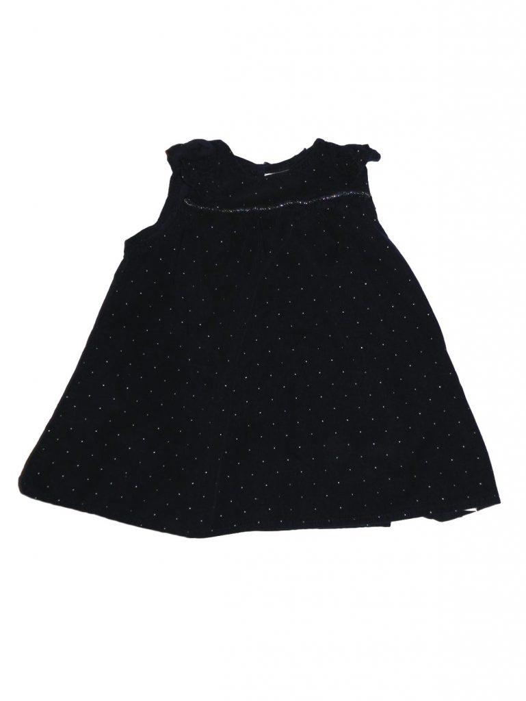 Hibátlan Egyéb márka Kék, pöttyös kord ruha (74)