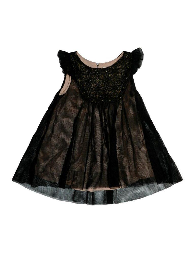 Hibátlan Egyéb márka Fekete, csillámos tüllruha (92)