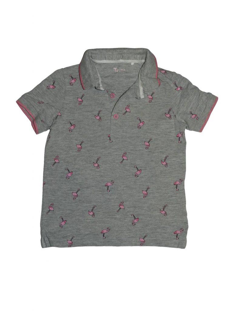 Hibátlan TU Flamingómintás galléros felső (104)