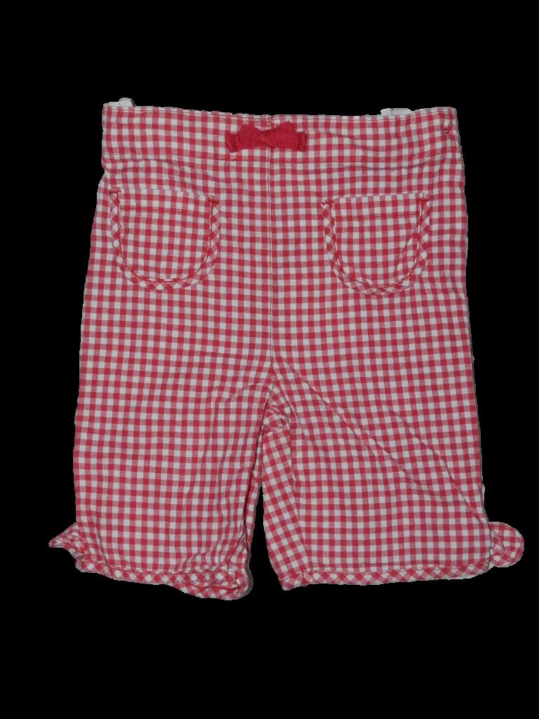 Újszerű Mini Mode Piros-fehér kockás nadrág (74-80)