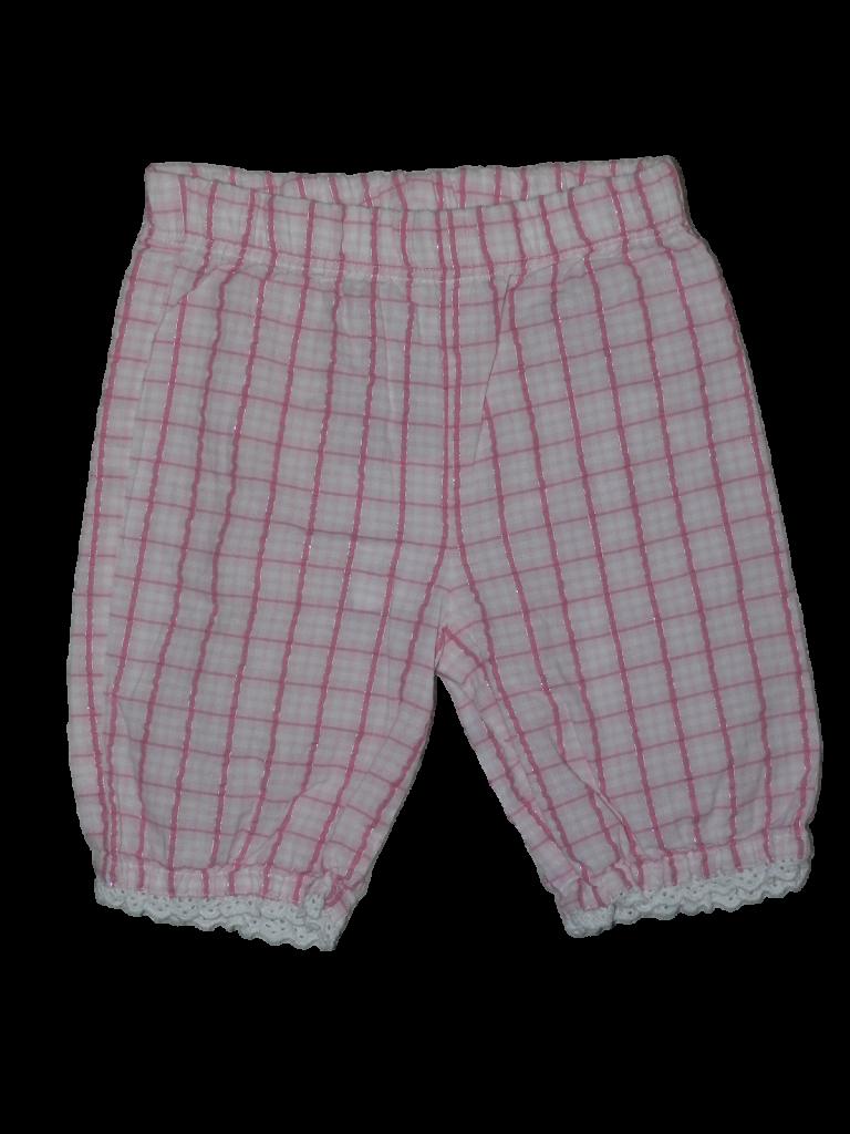 Újszerű Marks & Spencer Rózsaszín kockás nadrág (68-74)
