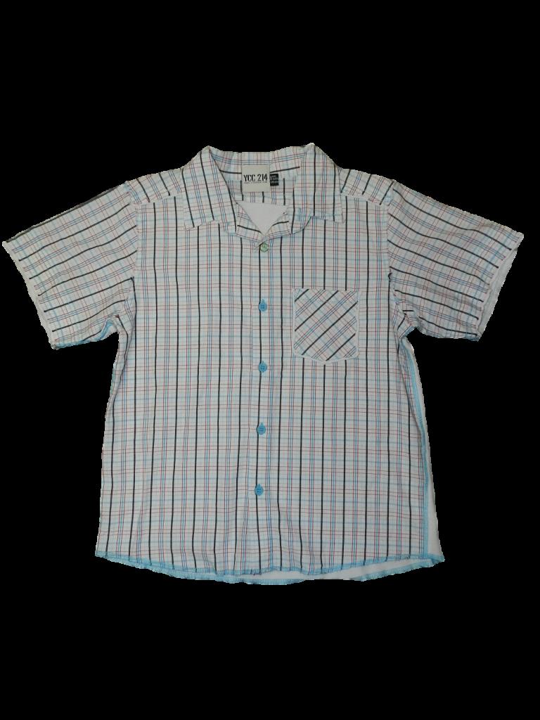 Jó állapotú Egyéb márka Kék gombos rövid ujjú ing (122-128)