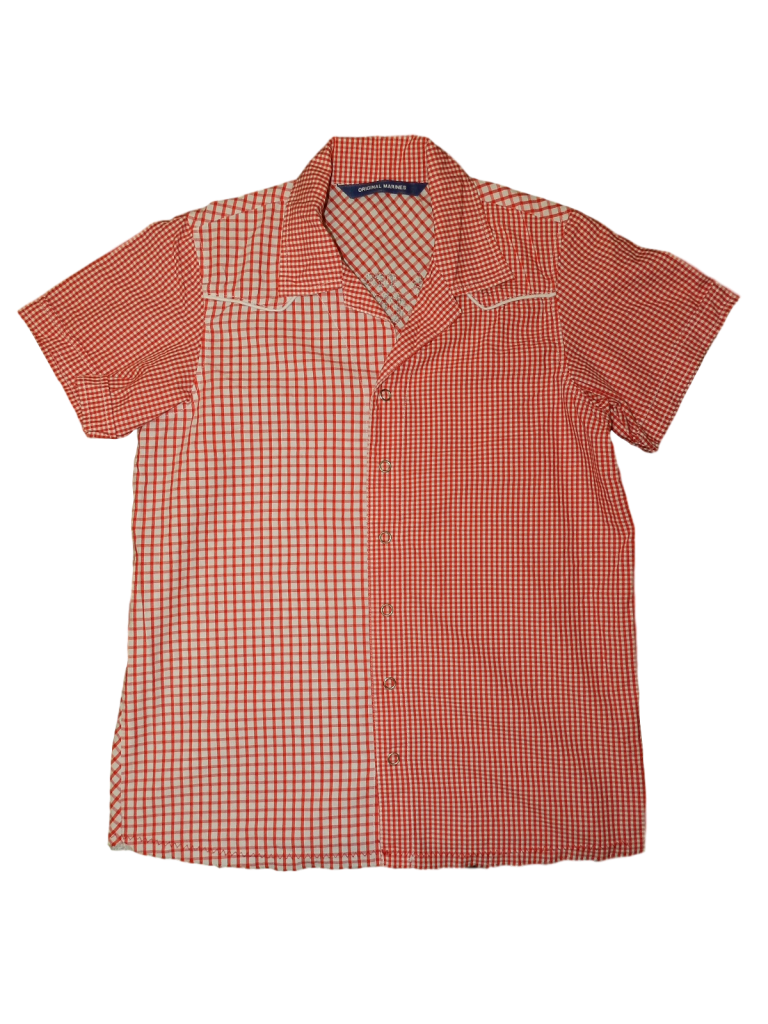 Újszerű Egyéb márka Apró kockás rövid ujjú ing (134-140)