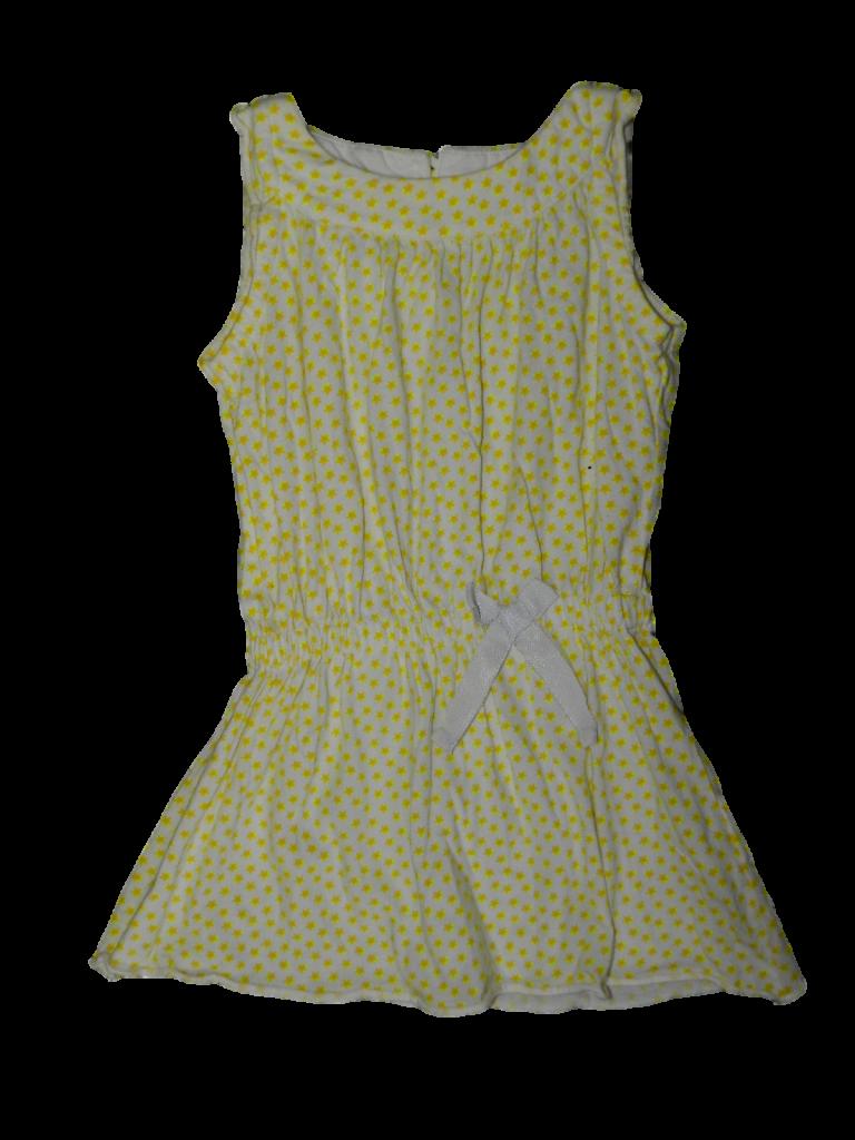 Újszerű Egyéb márka Sárga csillagos pamut ruha (92-98)