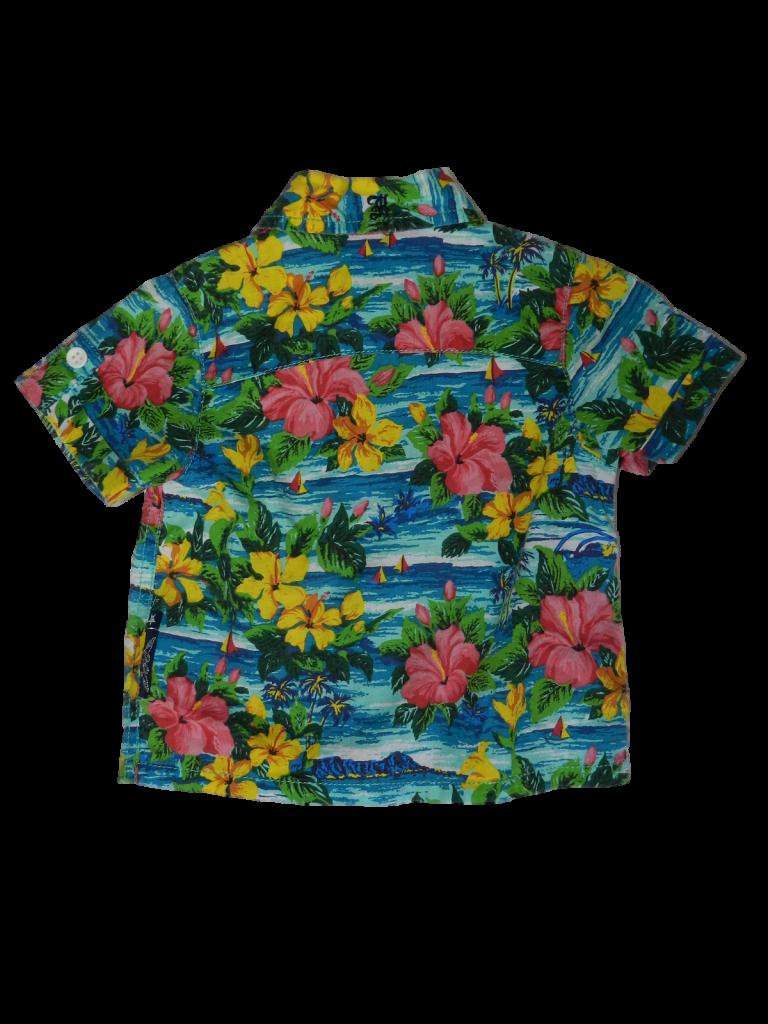 Újszerű Egyéb márka Színes, virágos rövid ujjú ing (62-68)