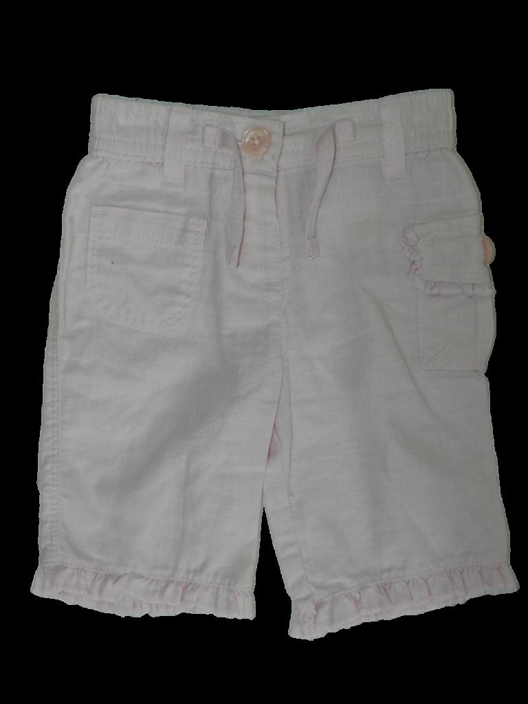 Újszerű Next Rózsaszín, len nadrág (50-56)