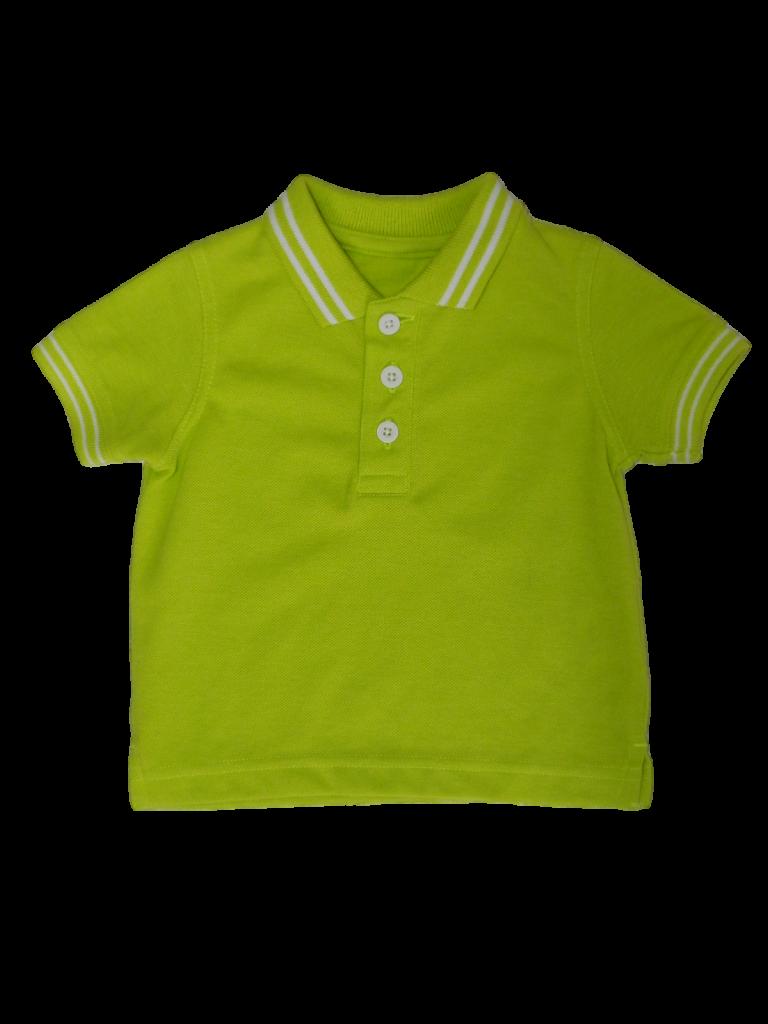 Újszerű Egyéb márka Neon zöld galléros póló (62-68)